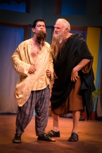 Gendell Hing-Hernandez as Puck and Robert Sicular as Philostrate